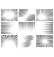 comic line effect radial and horizontal speed vector image vector image