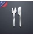 Cutlery icon symbol 3D style Trendy modern design vector image vector image