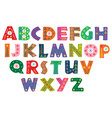 decorative color winter alphabet vector image vector image