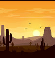 desert landscape with cactuses vector image vector image