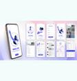 design mobile application ui ux a set vector image vector image