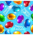 Easter seamless pattern green Happy easter vector image