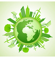 Eco earth with go green concept vector image