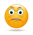 emoticon sad face vector image vector image