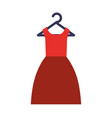 female suit hanging in hook vector image vector image