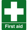 first aid station safety sign vector image vector image
