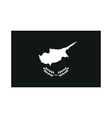 Flag of Cyprus monochrome on white background vector image vector image