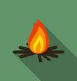 flat design modern of bonfire icon camping vector image