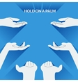 Flat design palms of the hands vector image