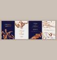 four wedding invitation templates or designs vector image
