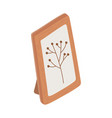 frame decoration picture foliage branch isolated vector image