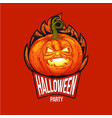 fun halloween hard style logo vector image