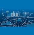 future city transportation concept vector image vector image
