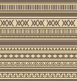 geometric seamless pattern brown coffee chocolate vector image vector image