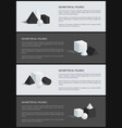 geometrical figures banner set vector image vector image