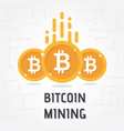golden bitcoin digital currency on white backgroun vector image