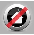 gray chrome button - no home vector image