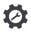 gray cogwheel setting and wrench settings icon vector image