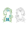 Hand drawn in folk style vector image vector image