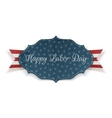 Happy Labor Day Banner with Text and Ribbon vector image vector image