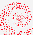 hearts swirl valentine background vector image vector image
