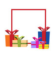 holiday background with gifts vector image vector image
