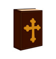holy bible icon vector image vector image