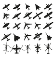 Icons set Airplanes vector image