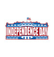independence day usa emblem white house america vector image vector image
