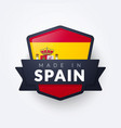 made in spain seal vector image vector image