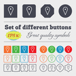 map poiner icon sign Big set of colorful diverse vector image vector image