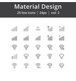 material design signal line icons vector image vector image