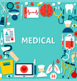 medical paper template vector image vector image