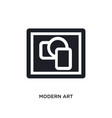 modern art isolated icon simple element from