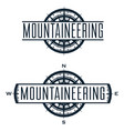 mountaineering logo and labels set vector image