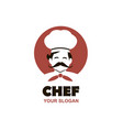 moustached chef icon vector image