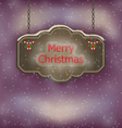 Night background with hanging Merry Christmas vector image vector image
