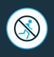 no running icon colored symbol premium quality vector image vector image
