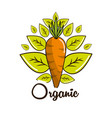 organic food icon stock vector image vector image