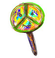 peace sign on white background vector image vector image