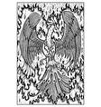 phoenix engraved fantasy vector image vector image