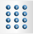 phone number blue button on gray background vector image