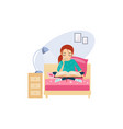 reading daily routine activities of women vector image