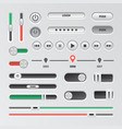 realistic navigation element set technology vector image