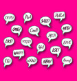 retro comic speech bubbles chat expressions vector image
