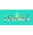 Science Concept Flat Design vector image vector image