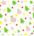 seamless tileable christmas vector image