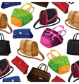 Seamless womans fashion bags background vector image vector image