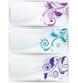 set abstract cards with flowers vector image vector image