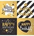 set beautiful birthday invitation cards vector image vector image